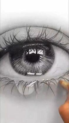 Realistic Eye Sketch, Realistic Pencil Drawings, Pencil Art Drawings, Sketch Of An Eye, How To Sketch Eyes, Eye Pencil Sketch, Art Drawings Beautiful, Dark Art Drawings, Art Drawings Sketches Simple