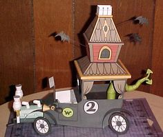 Wacky Races - The Creepy Coupe Paper Model - by The Webdude - == - Wacky Races was a 1965`s American animated television series produced by Hanna-Barbera. This very nice paper model was created by designer Webdude and you can download it at his Google Drive page.