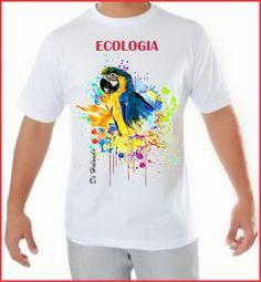 Camiseta fio 30 - PMG - Malha fria - Padrão com arte Di Holanda