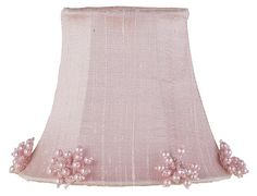 Pearl Burst Chandelier or Sconce Clip-On Silk Shade, Pink