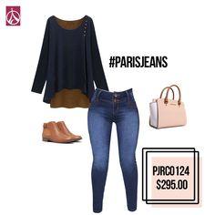 Llegó la temporada de botas y blusas, combínalas con #ParisJeans. www.paris-jeans.com