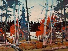 Robert Genn, artist, original landscape paintings at White Rock Gallery Pattern, Heenan Point, Lake of the Woods