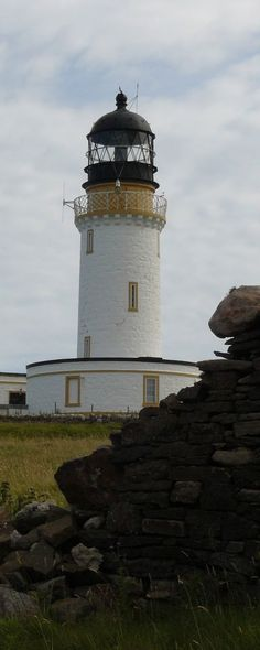 Cape Wrath Lighthouse built in 1828 by Robert Stevenson in Sutherland near Durness, Highland region | Scotland