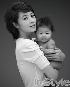 Kim Hye Soo with baby up for adoption. | Campaign to encourage domestic adoption #Korea