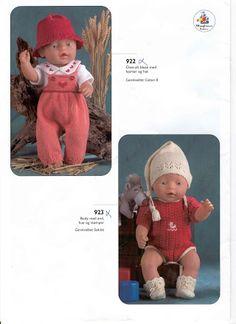 Bilde: Baby Born Clothes, Preemie Clothes, Knitting Dolls Clothes, Knitted Dolls, Doll Clothes Patterns, Doll Patterns, Knitting Patterns, Ag Dolls, Girl Dolls