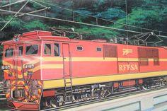 Propaganda utópica da RFFSA, mostrando como seria a sonhada Ferrovia do Aço!!!  Foram muitas as expectativas... Foto e fonte: http://minasstrains.blogspot.com.br/