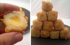 These Deep Fried Mash Potato Cubes are a Must-See #food trendhunter.com