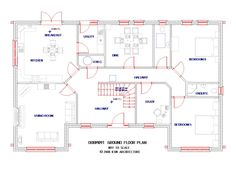 Ground Floor Plan, Dorm, Sims, House Plans, Floor Plans, How To Plan, Architecture, Home Decor, Homes