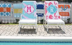 Lipstick Shades - with over 50 possible combinations, this completely personalized towel is sure to make a statement at the pool or beach this summer.