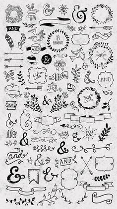 25 Easy Doodle Art Drawing Ideas For Your Bullet Journal – Brighter Craft Bullet Journal Headers, Bullet Journal Banner, Bullet Journal School, Bullet Journal Notebook, Bullet Journal Ideas Pages, Bullet Journal Inspiration, Daily Journal, Bullet Journal Decoration, Easy Doodle Art