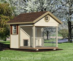 Backyard Unlimited provides quality Amish-Built structures available throughout Sacramento & San Francisco, CA. Check out Dog Kennels in our Animal Structures gallery!