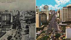 Av. Rafael Urdaneta (h.1953-1960) Rafael Urdaneta, Paris Skyline, Times Square, Retro, Travel, Littoral Zone, Caracas, Red Roof, Antique Photos