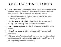 good habits essay Critical Thinking and Clear Writing Art Essay, Essay Writing, Opinion Essay, Types Of Essay, Kids Homework, First Draft, Essay Examples, Good Habits