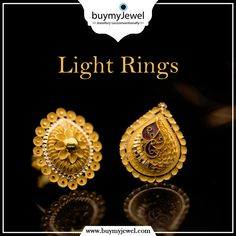 Let the beauty of what you love be what you do. Select from our splendid range of Light Rings. Gold Ring Designs, Gold Earrings Designs, Gold Jewellery Design, Gold Drop Earrings, Gold Rings Jewelry, Golden Jewelry, Ear Jewelry, Jewlery, Enamel Rings