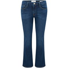 Frame Denim Le Crop Mini Boot Cut Jean - Remsen ($340) ❤ liked on Polyvore featuring jeans, remsen, bootcut jeans, flared jeans, fitted jeans, boot-cut jeans and cropped flared jeans