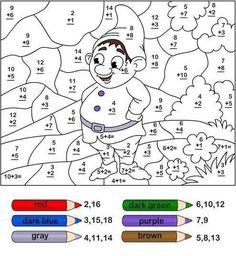 matematik işlemli boyama sayfaları1