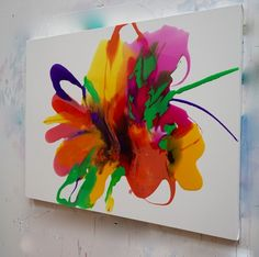 Original painting in resin on canvas. Orlanda Broom has exhibited regularly in London and internationally. Her paintings have been selected for curated shows and competitions including Threadneedle Prize, NOAC, BEEPand the RA Summer Exhibition, in 2016 she completed a major commission for Four Seasons NY.