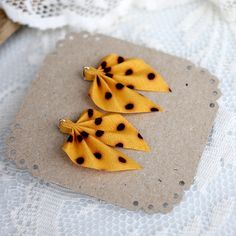 These chic stud earrings are made from recycled fabric and silver. Handmade in Finland. Recycled Fabric, Different Colors, Polka Dots, Brooch, Stud Earrings, Colours, Yellow, Silver, Handmade