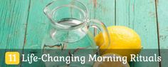 11 Morning Rituals That Can Change Your Life. Seriously these are really amazing tips to become a morning person.