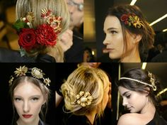 DIY video on how to make Dolce & Gabbana style hair accessories from vintage jewelry  https://youtu.be/3o3xF6vMYBc  #DIY #HairAccessories #Headband #upcycle #vintagejewelry