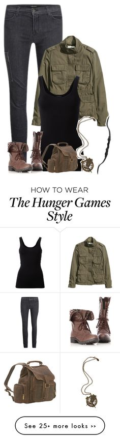 """Hunger Games tag."" by shannaolo on Polyvore featuring J Brand, H&M, Theory and Le Donne"