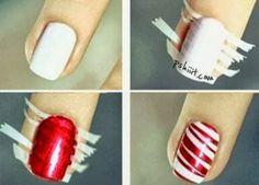 nail design red, unas decoradas rojo