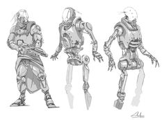 Few robots concepts. by CharlesDelisle.deviantart.com on @DeviantArt