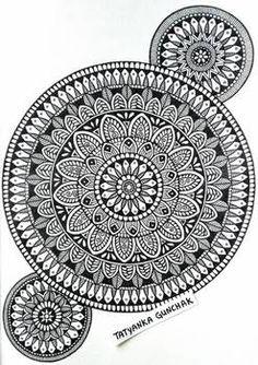 mandala by Tatyanka-Gunchak Mandala Art Therapy, Mandala Art Lesson, Mandala Artwork, Mandala Drawing, Doodle Art Designs, Doodle Patterns, Art Drawings Sketches Simple, Doodle Drawings, Beautiful Rangoli Designs