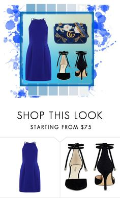 """the blue look💙"" by gabrieladodani ❤ liked on Polyvore featuring Nine West and Gucci"