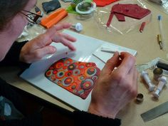 Picture Tutorial.  An easy concept when you see someone else do it.   #Polymer #Clay #Tutorial