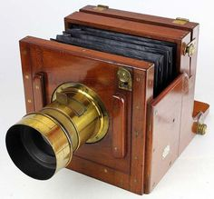 Wet plate camera circa 1865