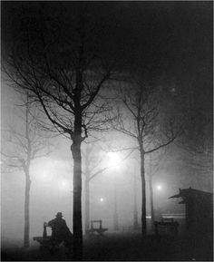 can never get enough of foggy, hazey black and white film images.  Brassaï , Avenue de l'Observatoire, Paris, 1930s  Thanks toadanvc