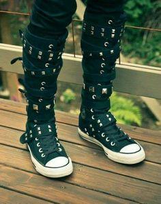 knee high converse sneaker boots a0ba941b052b8