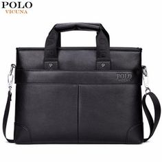 8a5e0d6079 VICUNA POLO Promotion High Quality PU Leather Brand Mens Briefcase Classic  Business Leather Men Handbags maletin