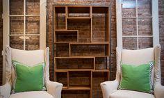 Bookcase with non-uniform shelves Bookcase Wall Unit, Bookshelf Ideas, Bookshelves, Home Living Room, Living Room Designs, Asymmetrical Balance, Small Master Bedroom, Beautiful Interiors, Cool Furniture