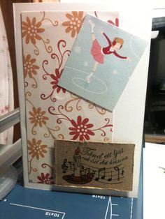 Scrapcard Skridsko Vinter Scrapbooking Gift Wrapping, Gifts, Gift Wrapping Paper, Presents, Wrapping Gifts, Gift Packaging, Gifs, Wrapping, Present Wrapping