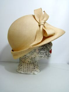 Perfect for summer! Vintage Hat Cream Straw by Duby New York by FairSails on Etsy, $28.00
