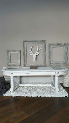 Painted Classic Coffee Table Refinished In Linen White With Distress. By  Vintage Feather Reclaimed Furniture