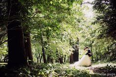 森の中でにこにこ前撮り* *ウェディングフォト elle pupa blog* 洋装前撮り #森 #ドレス #森フォト