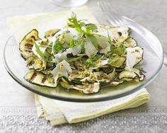 This refreshing summer salad by Anjum Anand shows how courgette and pistachios go surprisingly well together