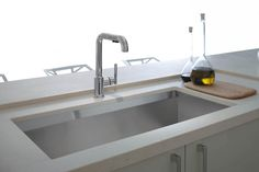 Simple Modern Silver Kohler Kitchen Faucets