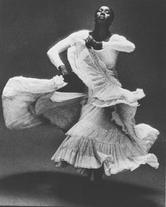 Judith Jamison in Alvin Ailey's Cry, Alvin Ailey Dance Theatre, 1976.  Photo by Max Waldman ~~~  I love the movement here....