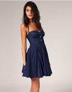 Miss Sixty Denim Mix Full Mini Dress