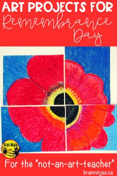 Try one of these five art projects that don't require a ton of time or mess and are perfect for your #remembranceday display or lessons. And the best part is there are free and quick! #remembrancedayart #artlessonsforkids