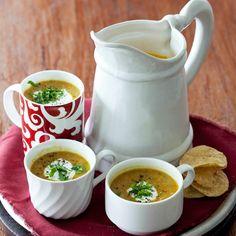 Aromatic soul food with a fabulous fibre content. Crockpot Recipes, Soup Recipes, Healthy Recipes, Healthy Soup, Winter Soups, Winter Food, Spicy Lentil Soup, Winter Treats, Recipe Search