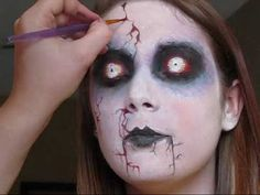 Ghoul and Zombie Makeup, Face Paint Art, A Gallery of Samples | Face Art, Portraits & Mug Shots