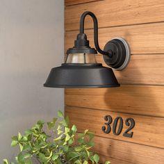 17 Stories Fifine Outdoor Barn Light  Reviews | Wayfair