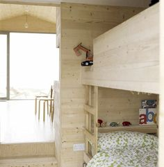 Nice bed made of plywood