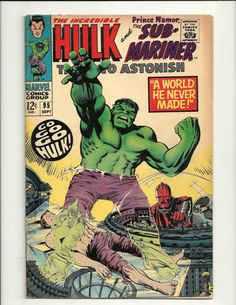 Tales To Astonish No. 95 - Marvel Comics Group September 1967, featuring Sub-Mariner and The Incredible Hulk