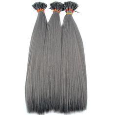 Synthetische grijze feather / 45 cm